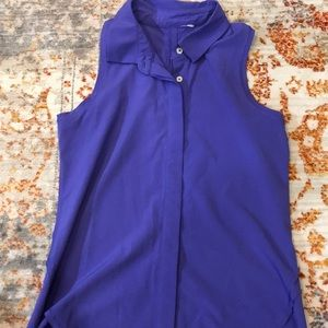 IVIVVA Purple Collared Sleeveless Athletic Top!